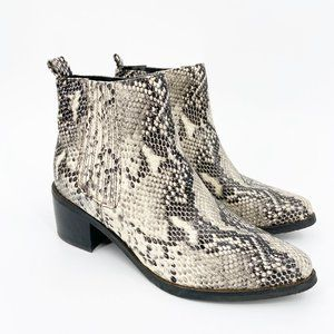 Blondo Elvina Waterproof Bootie Snake Point Toe
